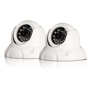 PRO-536 2 pack dome surveillance camera view 3