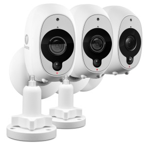 R-SWWHD-INTCM2STPK3 Swann Smart Security Camera Kit: 1080p Full HD Wireless Security Camera 3 Pack with 2 x Outdoor Mounting Stand -