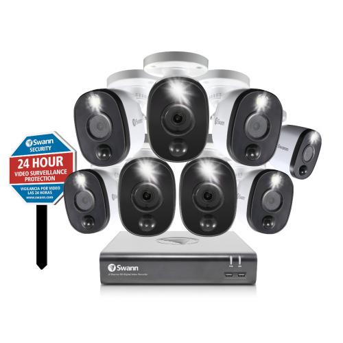 SODVK-845808WLY 8 Camera 8 Channel 1080p Full HD DVR Security System -