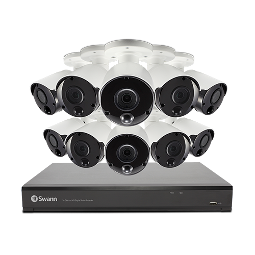 SWDVK-1649810 10 Camera 16 Channel 5MP Super HD DVR Security System -
