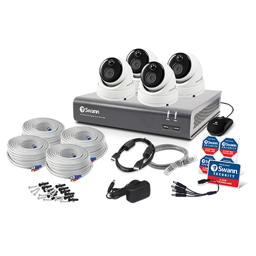 SWDVK-44480V4D 4 Camera 4 Channel 1080p Full HD DVR Security System -