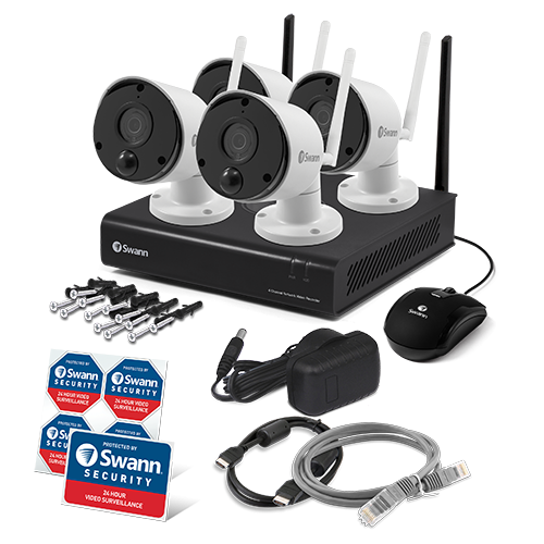 SWNVK-490KH4 4 Camera 4 Channel 1080p Wi-Fi NVR Security System  -