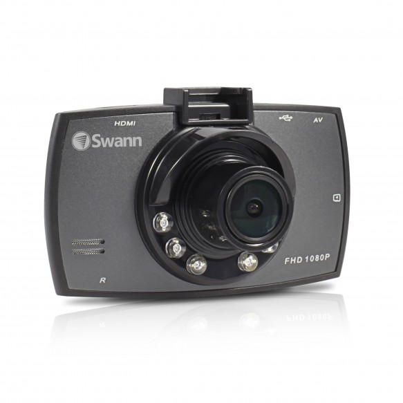 SWADS-130DCM Economy HD Dash Camera - 1080p Portable Vehicle Recorder -