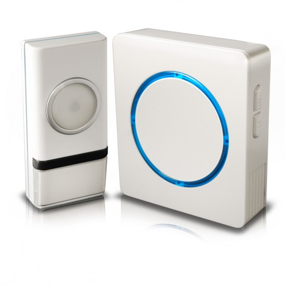 Wireless Door Chime with Compact Backlit Design