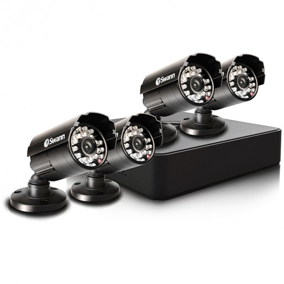 SWDVK-4ALP14-OB Compact Security System - 4 Channel Digital Video Recorder & 4 Cameras -