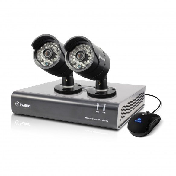 SWDVK-444002 DVR4-4400 - 4 Channel 720p Digital Video Recorder & 2 x PRO-A850 Cameras -
