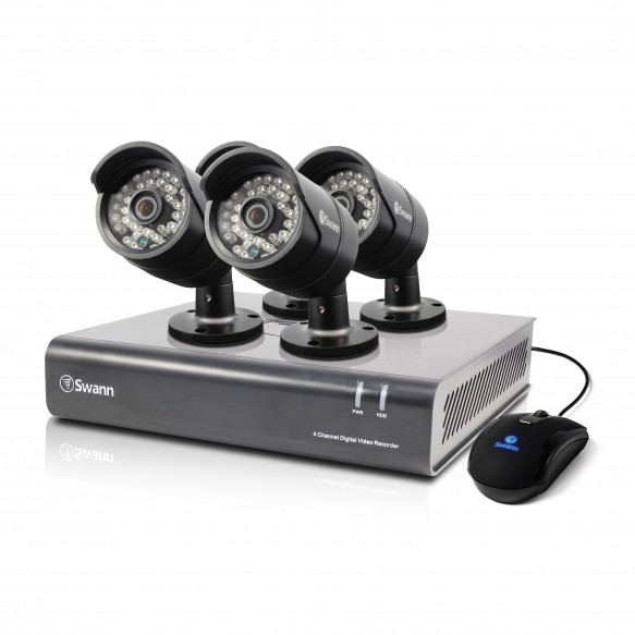 SWDVK-444004 DVR4-4400 - 4 Channel 720p Digital Video Recorder & 4 x PRO-A850 Cameras -