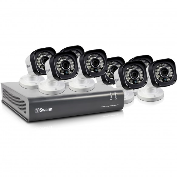 SWDVK-8720T8 DVR8-1580 - 8 Channel 720p Digital Video Recorder & 8 x PRO-T835 Cameras -