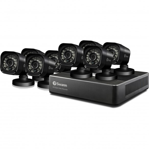 SWDVK-815908T Swann 8 Channel Security System: 720p HD DVR-1590 with 1TB HDD & 8 x PRO-T835 720p Cameras -