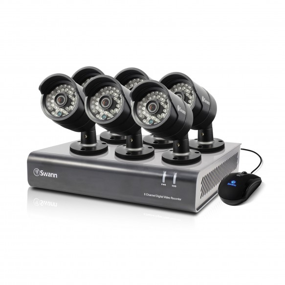 SODVK-84406B DVR8-4400 - 8 Channel 720p Digital Video Recorder & 6 x PRO-A850 Cameras (Plain Box Packaging) -