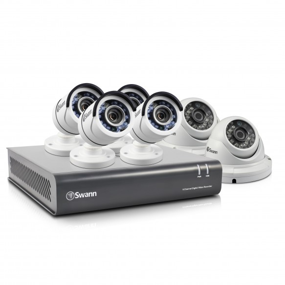 Swann 8 Channel Security System: 1080p Full HD DVR-4550 with 2TB HDD & 4 x PRO-T853 Bullet plus 2 x PRO-T854 Dome Cameras