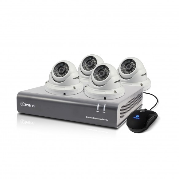 SWDVK-845504D DVR8-4550 - 8 Channel 1080p Digital Video Recorder & 4 x PRO-T854 Dome Cameras -