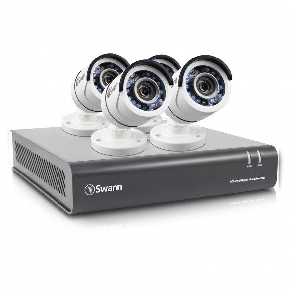 SWDVK-445504 DVR4-4550 4 Channel 1080p Digital Video Recorder with 4 x PRO-T853 Cameras -