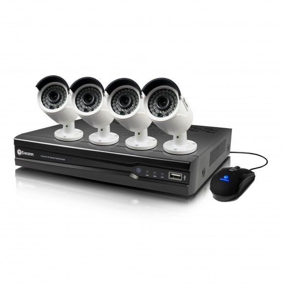 SWNVK-874004 NVR8-7400 8 Channel 4MP Network Video Recorder & 4 x NHD-818 4MP Cameras -