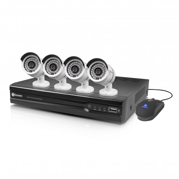 NVR8-7082 8 Channel 720p Network Video Recorder & 4 x NHD-806 Cameras
