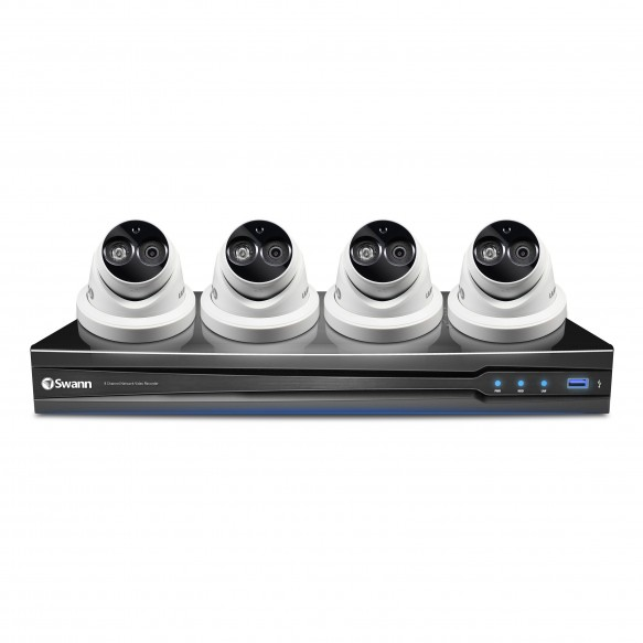 SWNVK-870904D NVR8-7090 8 Channel 3MP NVR with Smartphone Viewing & 4 x NHD-836 Cameras -