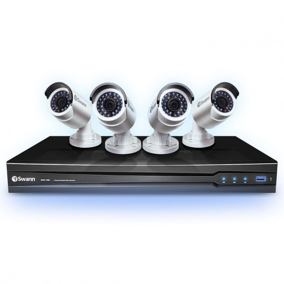 NVR4-7000 4 Channel NVR with Smartphone Viewing & 4 x NHD-800 Cameras