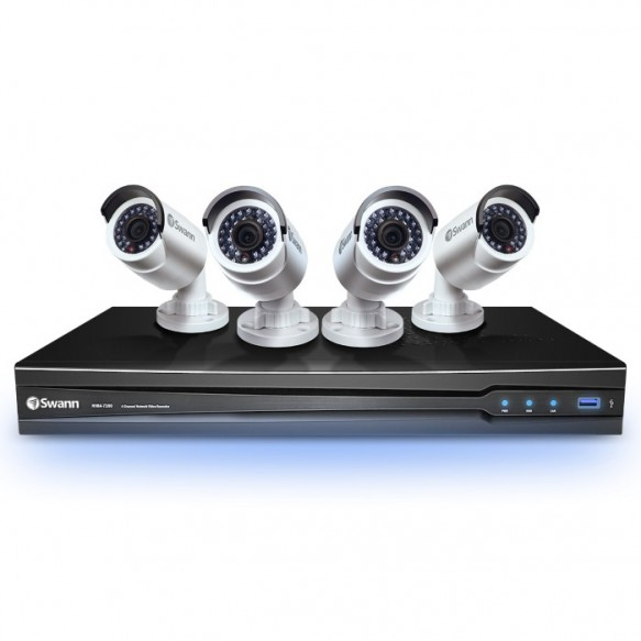 SWNVK-472004 NVR4-7200 4 Channel NVR with Smartphone Viewing & 4 x NHD-820 Cameras -