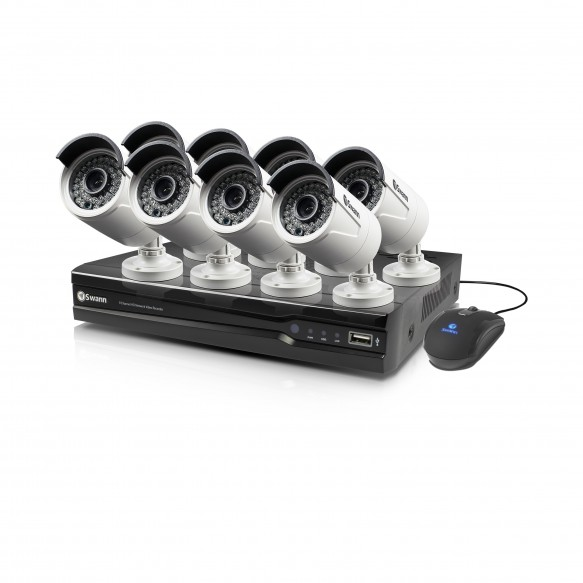 SWNVK-874008 NVR8-7400 8 Channel 4MP Network Video Recorder & 8 x NHD-818 4MP Cameras with PoE Connectivity -