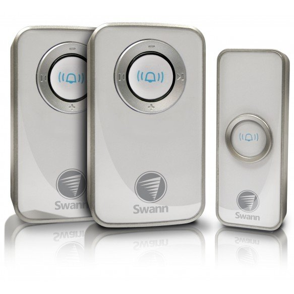 SWHOM-DC820P2 Wireless Door Chime with Receiver - Twin Pack -