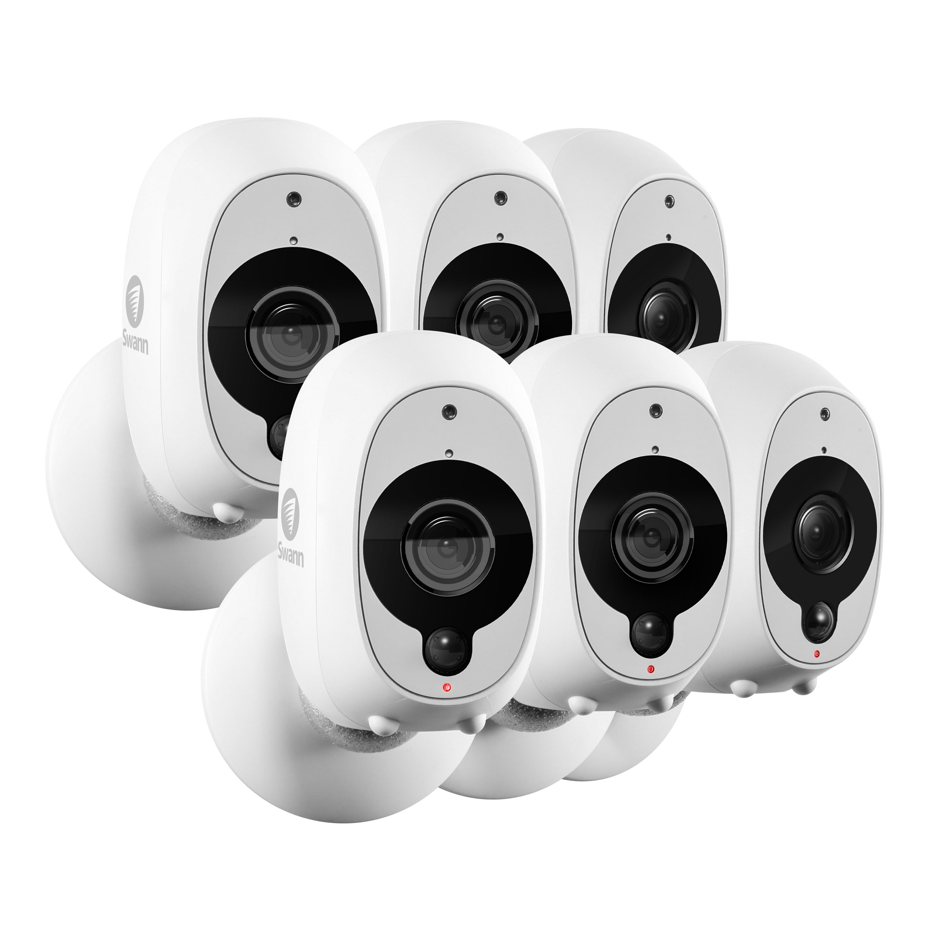 SWWHD-INTCAMPK6 Wire-Free Smart Security Camera 6 Pack Bundle -