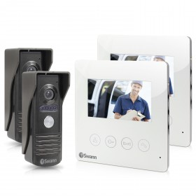 "Doorphone Video Intercom With Colour 4.3"" LCD Monitor Twin Pack Bundle"