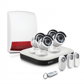 DVR8-5000B - Complete Home Security System with Security Cameras, Motion Sensors & Alarm