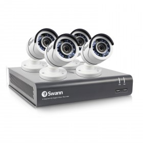 Swann 4 Channel Security System: 1080p Full HD DVR-4575 with 1TB HDD & 4 x 1080p PRO-T853 Bullet Cameras