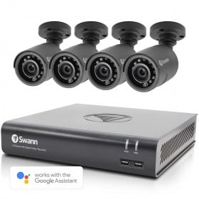 Swann 4 Channel Security System: 1080p Full HD DVR-4580 with 1TB HDD & 4 x 1080p Bullet Cameras PRO-852BLK