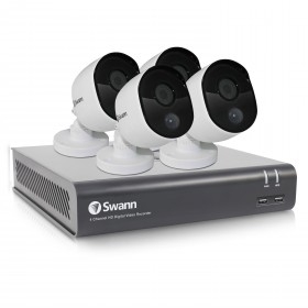 Swann 4 Channel Security System: 1080p Full HD DVR-4575 with 1TB HDD & 4 x 1080p Thermal Sensing Cameras PRO-1080MSB (DVK-4580)