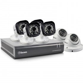 Swann 8 Channel Security System: 720p HD DVR-1580 with 1TB HDD, 4 x PRO-T835 720p Cameras & 2 x PRO-T836 720p Dome Cameras