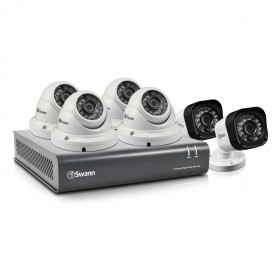 DVR8-1580 - 8 Channel 720p Digital Video Recorder with 2 x PRO-T835 Cameras & 4 x PRO-T836 Dome Cameras
