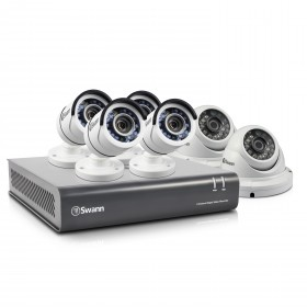 6 Camera 8 Channel 1080p Full HD DVR Security System with 2TB HDD