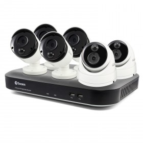 6 Camera 8 Channel 5MP Super HD DVR Security System 2TB HDD, Heat & Motion Sensing + Night Vision