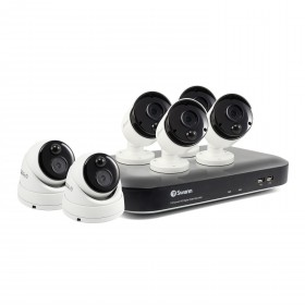 6 Camera 8 Channel 4K Ultra HD DVR Security Sysetm 2TB HDD, Heat & Motion Sensing + Night Vision