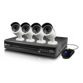 NVR4-7300 4 Channel 3MP Network Video Recorder & 4 x NHD-815 3MP Cameras