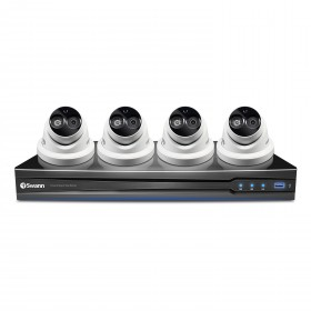 NVR8-7090 8 Channel 3MP NVR with Smartphone Viewing & 4 x NHD-836 Cameras