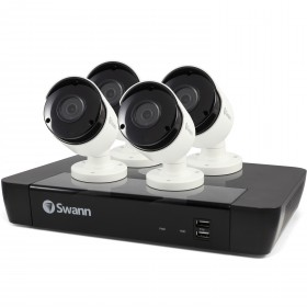 Swann 8 Channel Security System: 5MP Super HD NVR-7450 with 2TB HDD & 4 x 5MP NHD-855 Bullet Cameras