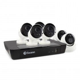6 Camera 8 Channel 5MP Super HD NVR Security System 2TB HDD, Heat & Motion Sensing + Night Vision & Audio