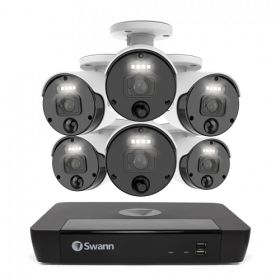 Master-Series 6 Camera 8 Channel NVR Security System (Plain box packaging) (Online Exclusive)