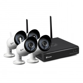 NVW-485 Wi-Fi HD Security System - Wi-Fi Monitoring System with 4 x 1080p Day/Night Cameras & Smartphone Connectivity