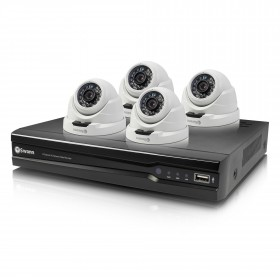 Swann 8 Channel Security System: 4MP Super HD NVR-7400 with 2TB HDD & 4 x NHD-819 4MP Dome Cameras