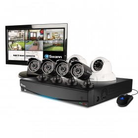 "DVR8-3425 8 Channel 960H Digital Video Recorder, 4 x PRO-735 Cameras, 2 x PRO-736 Cameras & 15"" LCD Monitor"
