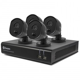 4 Camera 4 Channel 1080p Full HD DVR Security System 32GD SD Card, ,Heat & Motion Sensing + Night Vision