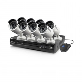 NVR8-7400 8 Channel 4MP Network Video Recorder & 8 x NHD-818 4MP Cameras with PoE Connectivity
