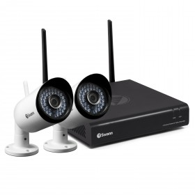 NVW-485 Wi-Fi HD Security System - Wi-Fi Monitoring System with 2 x 1080p Day/Night Cameras & Smartphone Connectivity