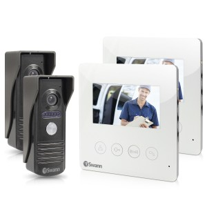 """SWHOM-DP875CPK2 Doorphone Video Intercom With Colour 4.3"""" LCD Monitor Twin Pack Bundle -"""