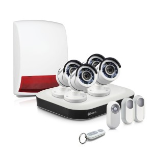 SWDSK-850004B DVR8-5000B - Complete Home Security System with Security Cameras, Motion Sensors & Alarm -