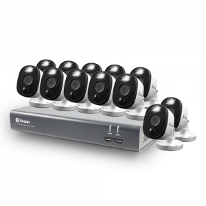 SWDVK-1645812WL 12 Camera 16 Channel 1080p Full HD DVR Security System -