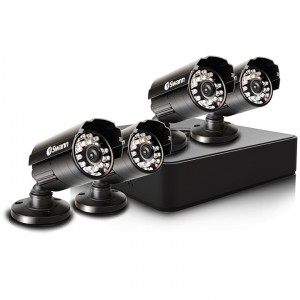 Compact Security System - 4 Channel Digital Video Recorder & 4 Cameras